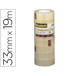 Cinta adhesiva Scotch transparente 550 19mm.x33m.