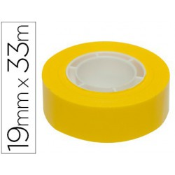 Cinta adhesiva Apli 33mtx19mm groc
