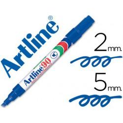 Retolador permanent Artline EK-90 blau