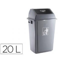 Papelera contenedor plastico 20l.
