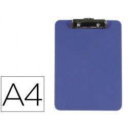 Portanotas con pinza PP A4 azul