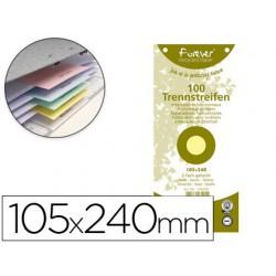 Separadores de cartulina 105x240mm amarillo