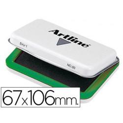 Tampon Artline nº1 verde -67x106mm