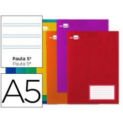 Libreta Write A5 16 hojas cuadro pauta 5ª 2.5mm margen