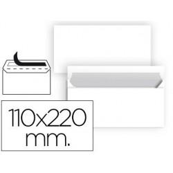 Sobre nº2 blanco americano 110x220mm tira de silicona 25u.