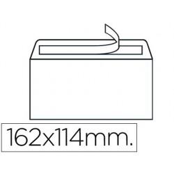 Sobre nº19 blanc C6 114x162mm tira de silicona 500u.
