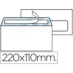 Sobre nº3 blanc americà finestra dreta 110x220mm tira de silicona open system 500u.