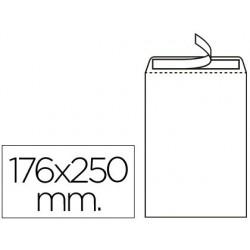 Sobre bossa nº15 blanc B5 176x250mm tira de silicona 500u.