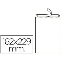 Sobre bossa nº16 blanc C5 162x229mm tira de silicona 500u.