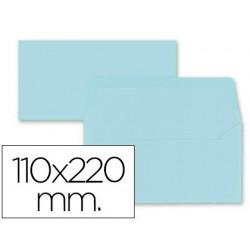 Sobre americà 110x220mm solapa recta blau cel 9u.