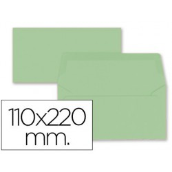 Sobre americà 110x220mm solapa recta verd 9u.