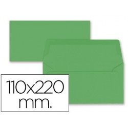 Sobre americà 110x220mm solapa recta verd avet 9u.