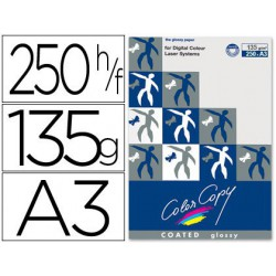 Papel copy coated glossy A3 135 g. 250 hojas