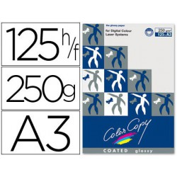 Papel copy coated glossy A3 250 g. 125 hojas