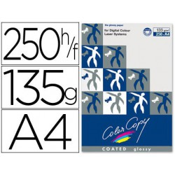 Papel copy coated glossy A4 135 g. 250 hojas