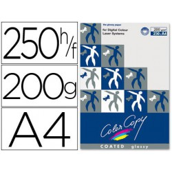 Papel copy coated glossy A4 200gr. 250 hojas