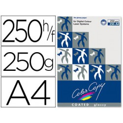 Papel copy coated glossy A4 250 g. 250 hojas