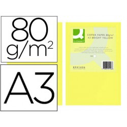 Papel A3 80gr amarillo intenso 500 hojas