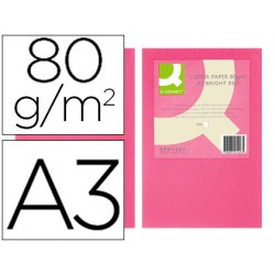 Papel A3 80gr rosa intenso 500 hojas