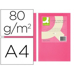 Papel A4 80gr rosa intenso 500 hojas