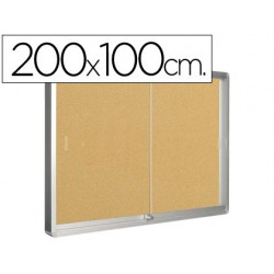 Vitrina interior corcho 1000x2000mm