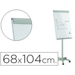Pizarra blanca Rocada magnética con ruedas 68x104cm.