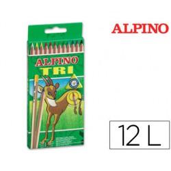 Estuche lápiz Alpino Tri 12u.