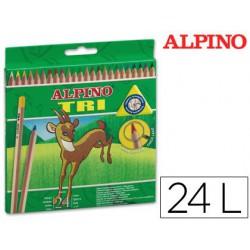 Estuche lápiz Alpino Tri 24u.