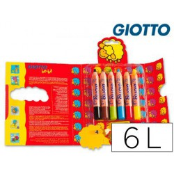 Estuche lápiz Giotto Be-bé 6u.