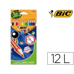 Lápices de colores Bic Kids Evolution 12u.