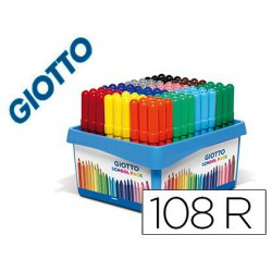 Retolador Giotto Turbo Maxi SchoolPack 9x12 colors. (108u.)