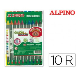 Rotulador Alpino Doble Punta 10u.