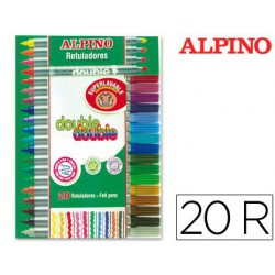 Rotulador Alpino Doble Punta 20u.
