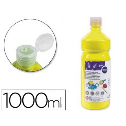 Témpera Liderpapel Basic 1000ml. amarillo