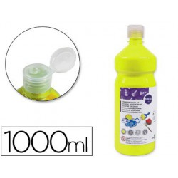 Témpera Liderpapel Basic 1000ml. amarillo limón