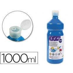 Témpera Liderpapel Basic 1000ml. azul