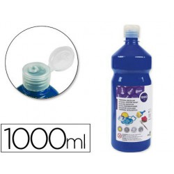 Témpera Liderpapel Basic 1000ml. azul marino