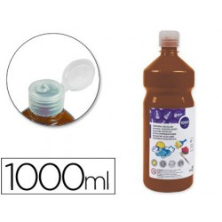 Témpera Liderpapel Basic 1000ml. marrón