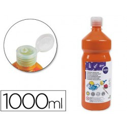 Témpera Liderpapel Basic 1000ml. naranja