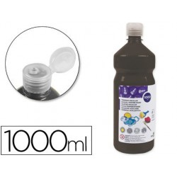 Témpera Liderpapel Basic 1000ml. negro