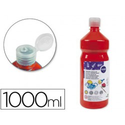 Témpera Liderpapel Basic 1000ml. rojo