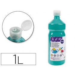 Témpera Liderpapel Basic 1000ml. turquesa