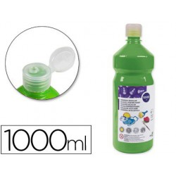 Témpera Liderpapel Basic 1000ml. verde