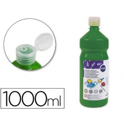 Témpera Liderpapel Basic 1000ml. verde oscuro