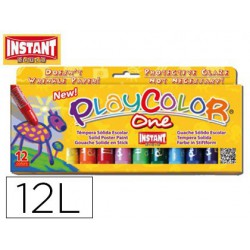 Témperas Sólidas Instant PlayOne 12u.