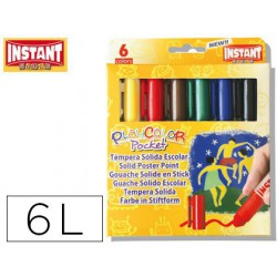Témpera sòlides Instant PlayPocket 6u.