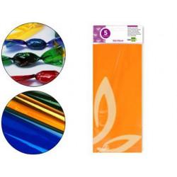 Papel Celofán 50x70cm. naranja