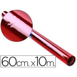 Rollo papel Celofán 0,6x10m. rojo