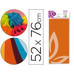 Fulls paper Seda 52x76cm.5u.taronja
