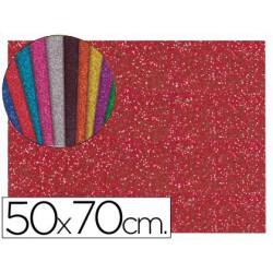 Goma Eva purpurina 50x70xm. rojo